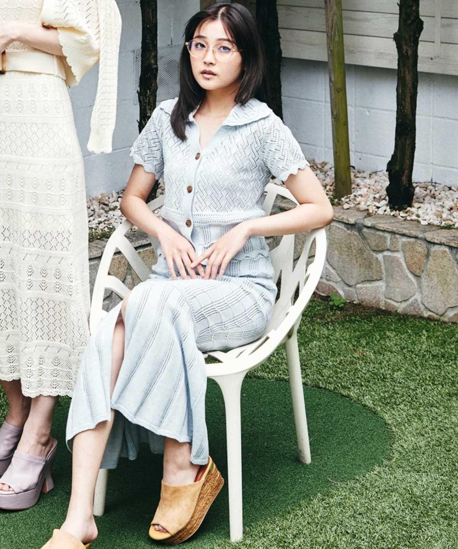 透かし編みマーメイドスカート
