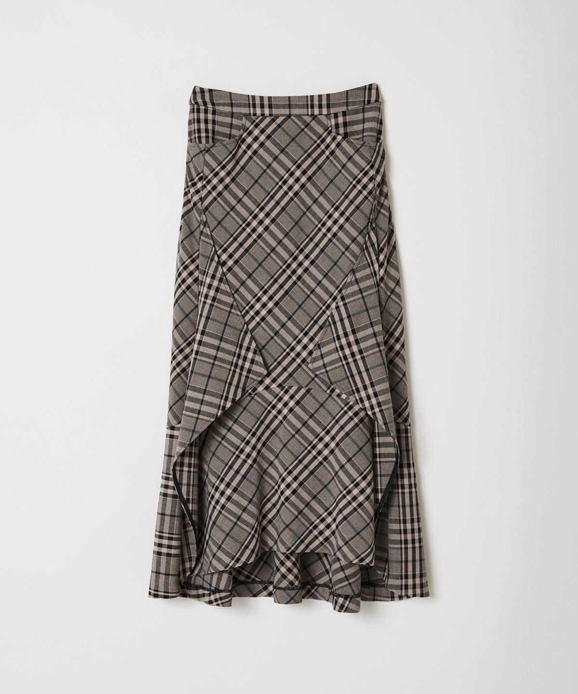 裾変形マーメイドフレアスカート