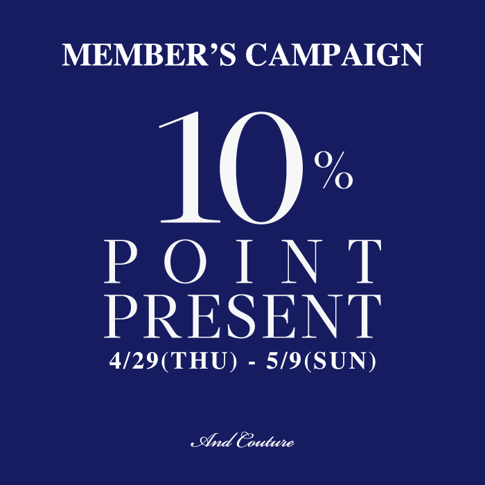 MEMBER'S CAMPAIGN 10%POINT PRESENT