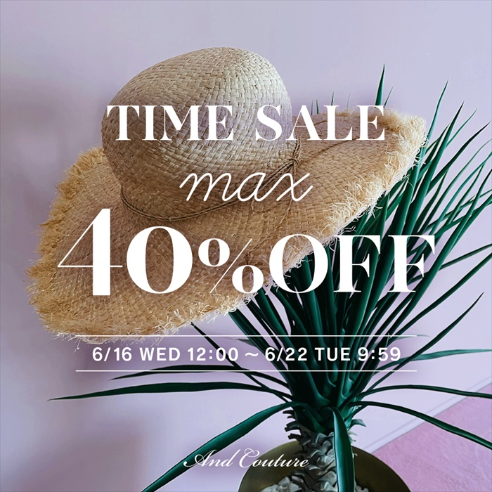 【TIME SALE max 40%OFF】