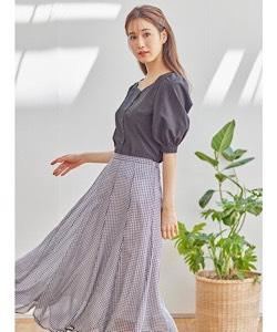 フラワーペタルスカート