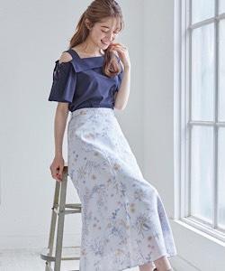 【6枚ハギワイルドフラワースカート】