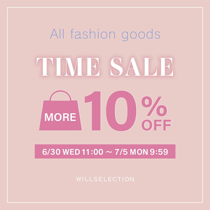 【MORE 10%OFF TIME SALE】